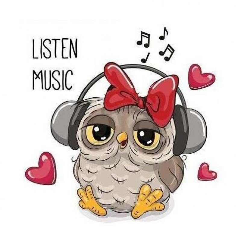 Listen to music owl