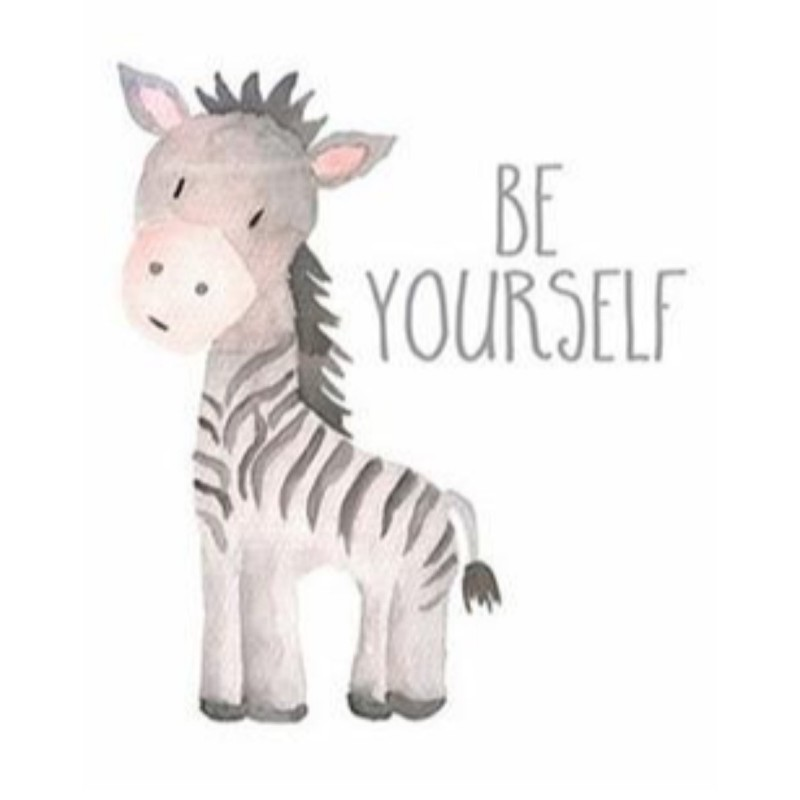 Be Yourself Zebra