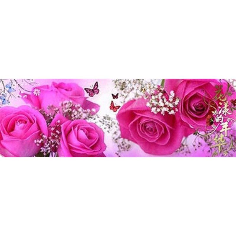 Long pink roses with...