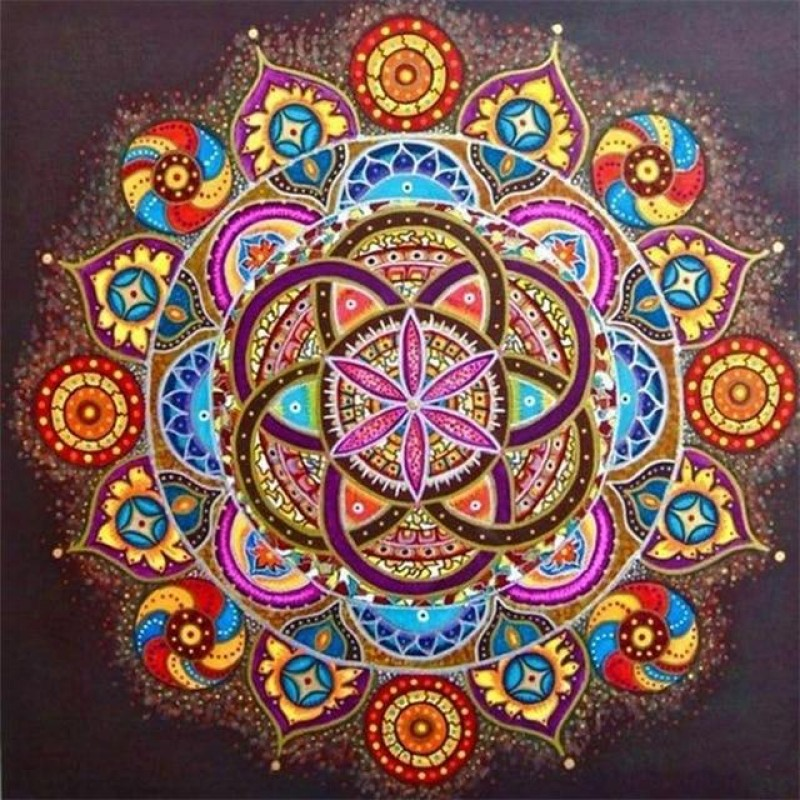 Mandala with central...