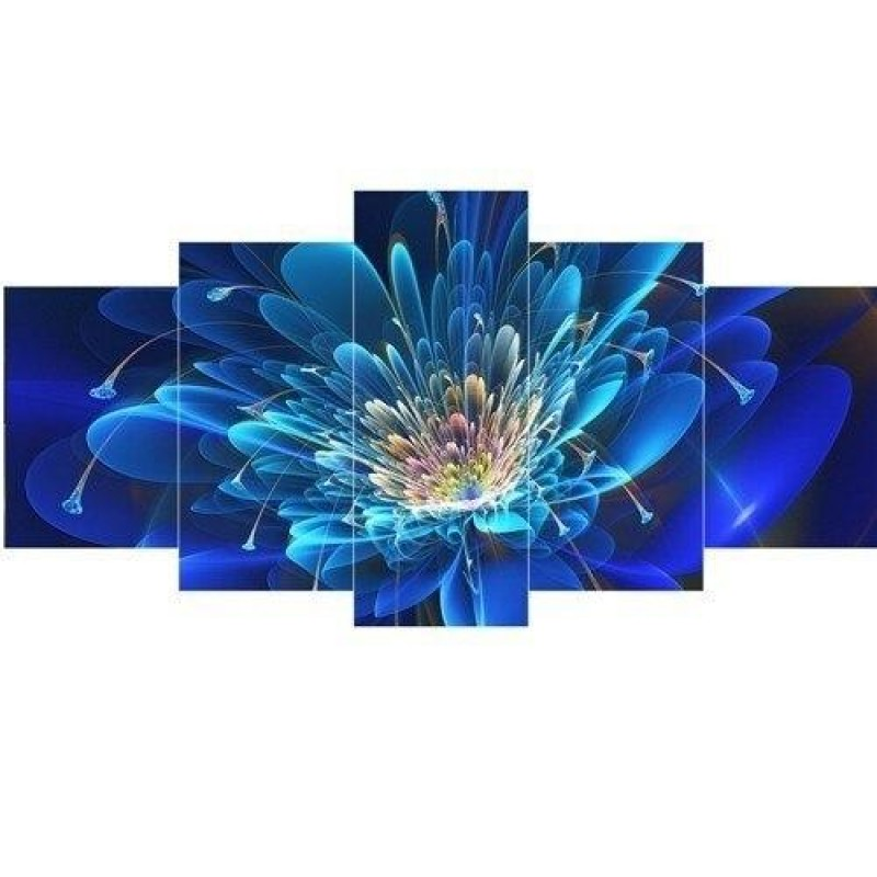 Blue and navy flower...